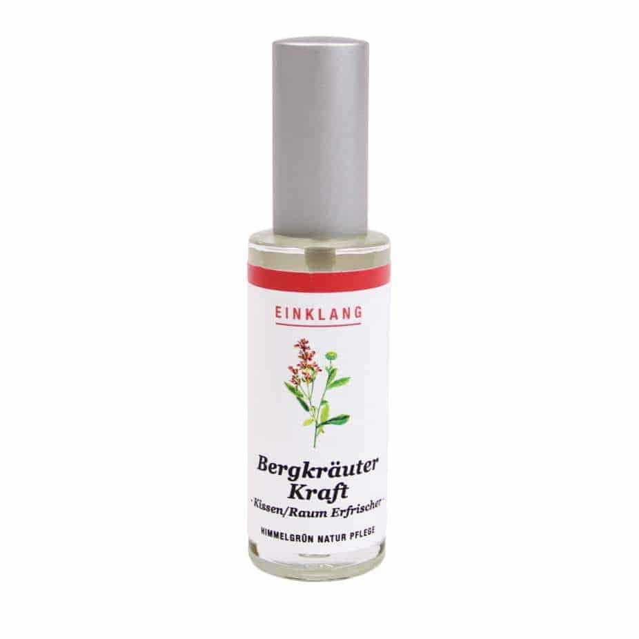 Bergkräuter Kraftspray – Ruhespray – Kissenspray – Raumspray – 30ml