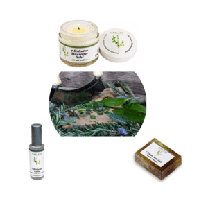 7 Kräuter Ruhe Duft & Massage Set