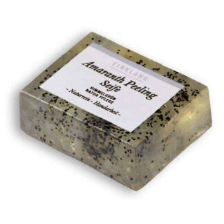 Seife Amarant Peeling Block groß vorne