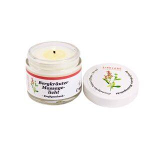 Massagekerze Bergkräuter Produktbild